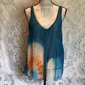 RACHEL Rachel Roy Sheer Tye Dyed Tank